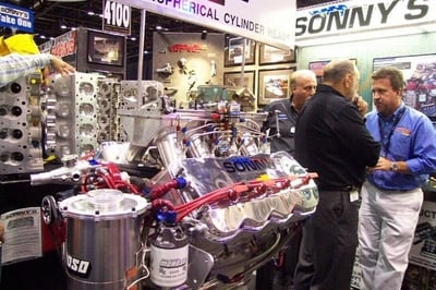 Sonny's Trade Show Booth displaying new products