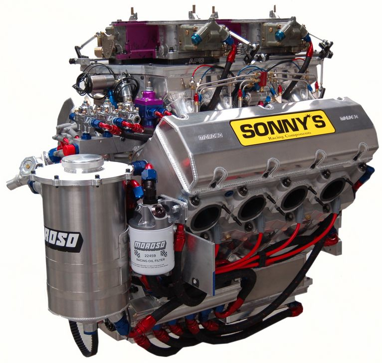 "SONNY'S WEDGE PRO MOD 864 C.I. 5.300"" BORE SPACING 1675 HP (2600 HP with 4 Moderate Systems) - Sonny's Racing Engines & Components"