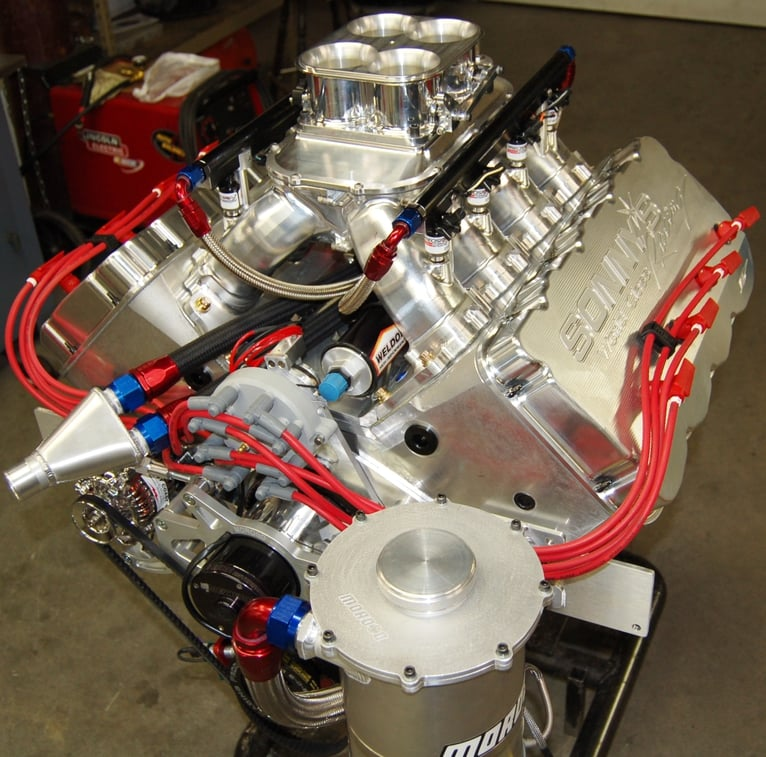 Sonny's 727 cu.in. Hemishperical Headed Marine Engine  1200 HP