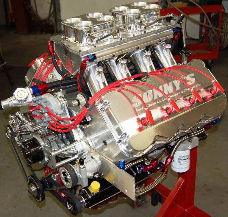 SONNY'S  805 CU. IN. HEMISPHERICAL HEADED PUMP GAS ENGINE  (1500 HP) - Sonny's Racing Engines & Components