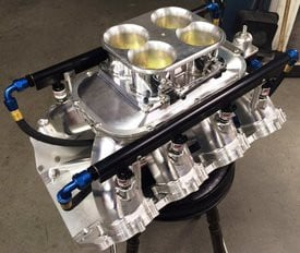Sonny's new Billet Aluminum Manifold for Sonny's Hemispherical Headed Engines