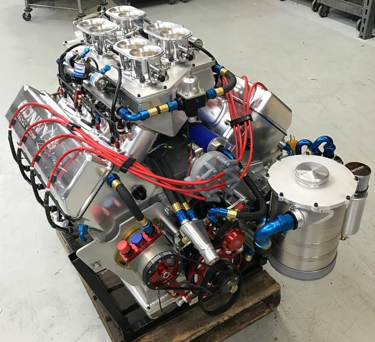 SONNY'S 959 CU.IN WEDGE PRO MOD EFI, OVER 1800 HP N/A & OVER 3000 HP WITH 4 SYSTEMS, FEATURING SONNY'S NEW STAGE 2 HEADS AND INTAKE