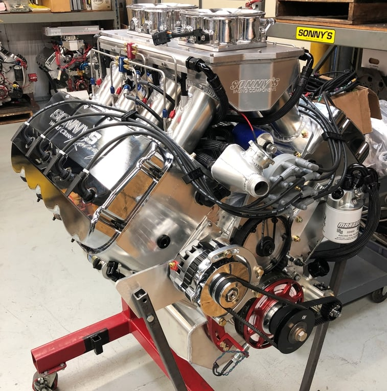 SONNY'S  940 CU.IN. 5.3 BORE SPACE  HEMISPHERICAL HEADED PUMP GAS ENGINE (1600HP)