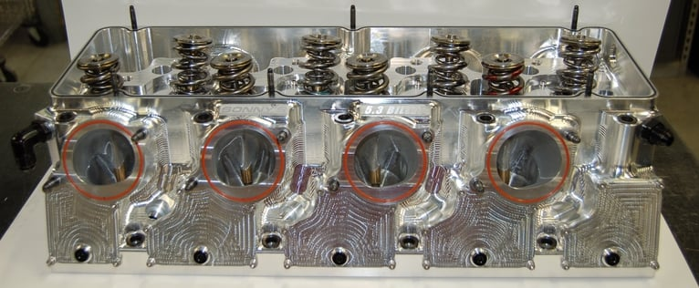 Sonny's New 5.3 Billet Wedge Pro Mod Head with Water - Sonny's Racing Engines & Components