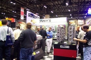 Sonny's Trade Show Booth always attracts a lot of attention