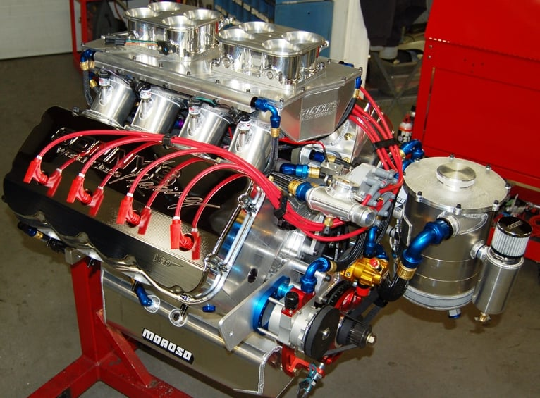 "SONNY'S ULTIMATE TOP SPORTSMAN, TOP DRAGSTER 828 CU. IN. 5.300"" BORE SPACE ENGINE"
