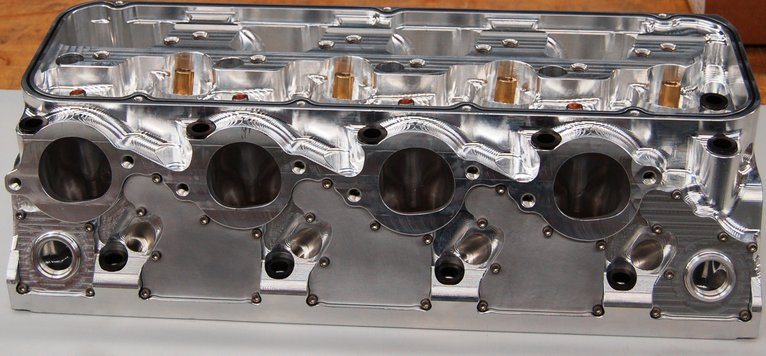 "SONNY'S NEW 5.000"" BORE SPACE SYMMETRICAL PORT BILLET ALUM. HEAD WITH  WATER JACKETS, COMPLETE RACE READY WITH COMPONENTS - Sonny's Racing Engines & Components"