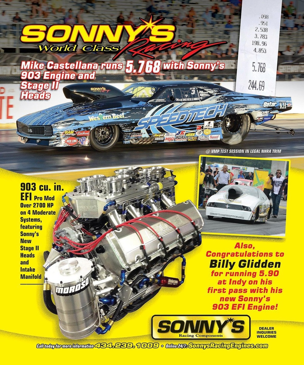 Sonny's Racing Engines Ads - Sonny's Racing Engines