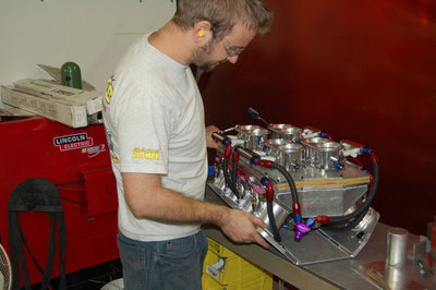 Josh is finishing up plumbing a new EFI manifold
