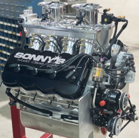 2020 SAR 649 CU. IN. TRUCK PULL ENGINE WITH GM HEMISPHERICAL BILLET CYLINDER HEADS WITH WATER  1640 HP - Sonny's Racing Engines & Components